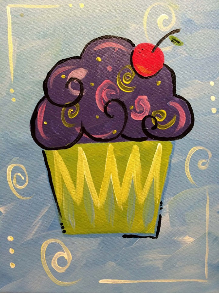 cupcake - Painting Images For Kids